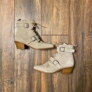 Jo Mercer Double Strap Ankle Boots